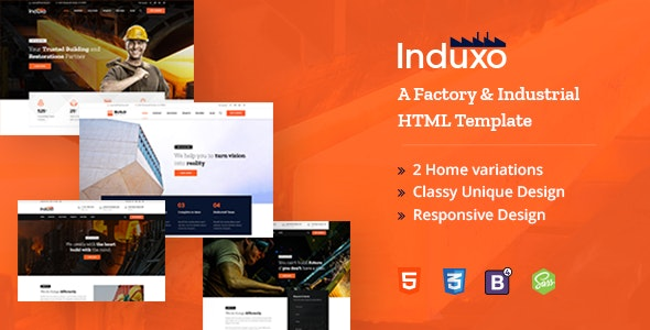 Induxo - A Factory and Industrial HTML5 Template - Business Corporate