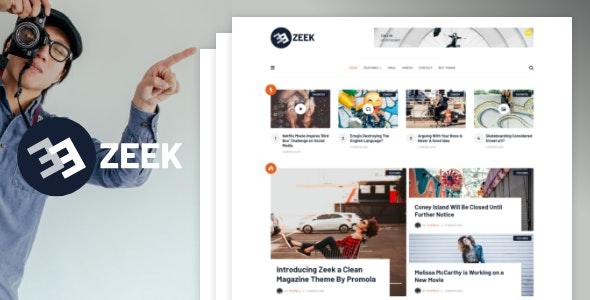 Zeek - A Clean WordPress Blogging / Magazine Theme - Blog / Magazine WordPress