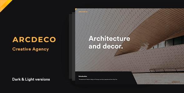 Arcdeco - Creative Agency HTML5 Template - Portfolio Creative
