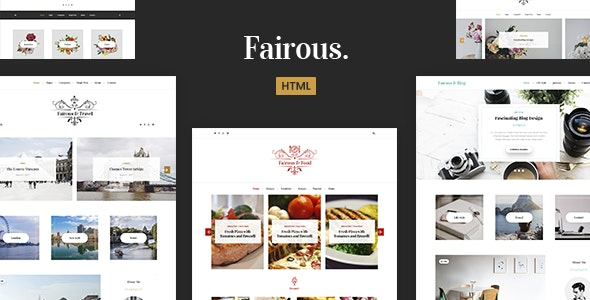 Fairous - Elegent HTML Blog Template - Miscellaneous Site Templates