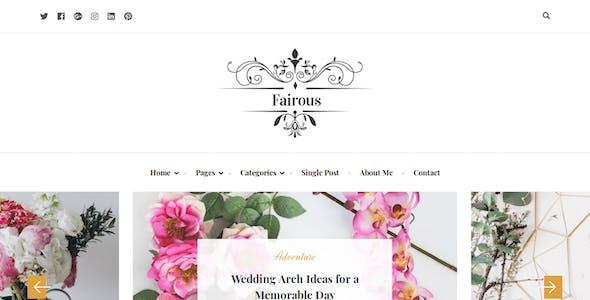 Fairous - Elegent HTML Blog Template
