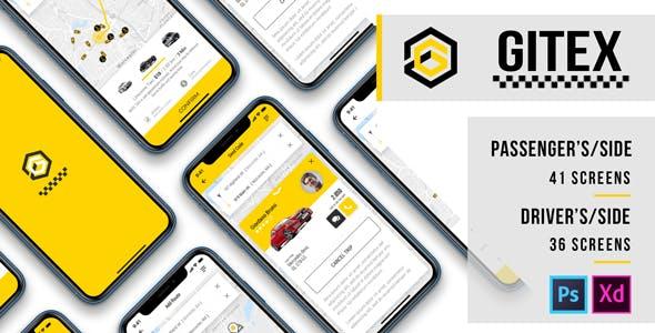 Gitex – Taxi Ui Kit for Mobile App