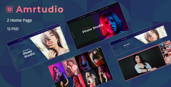 Amrtudio - Photography Studio Business PSD Template - Photography Creative