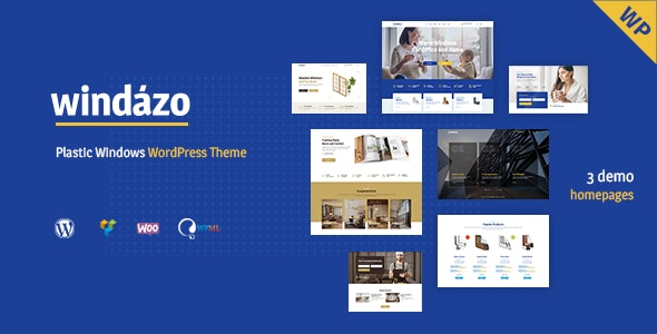 Windazo - Plastic Windows and Doors WordPress Theme - Retail WordPress