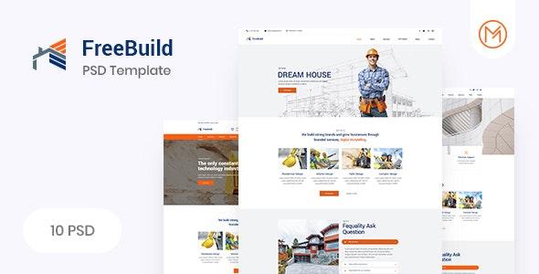 FreeBuild - Construction PSD Template - Business Corporate
