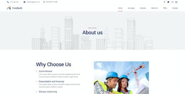 FreeBuild - Construction PSD Template