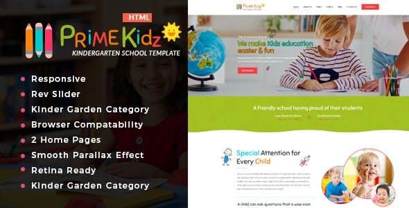 Prime kidz - Kindergarten & School HTML Template