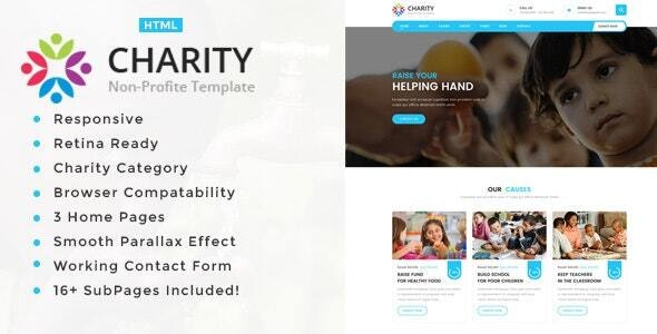 Charity Non-Profit HTML5 Template - Charity Nonprofit