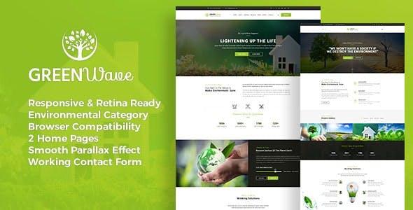 Green Wave - Environment / Non-Profit HTML Template