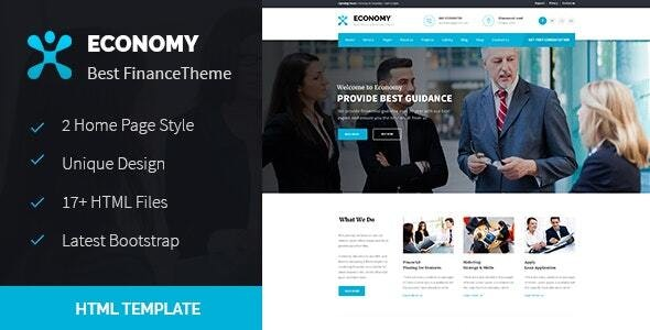 Economy - Finance & Business HTML Template - Business Corporate