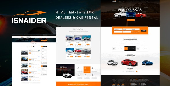 Isnaider - Auto dealer & Car Rental - Retail Site Templates