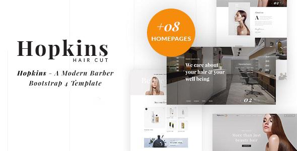 Barber Shop & Hair Salon HTML - Hopkins - Health & Beauty Retail