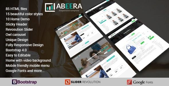 Abeera - HTML Responsive Multi-Purpose Template - Business Corporate