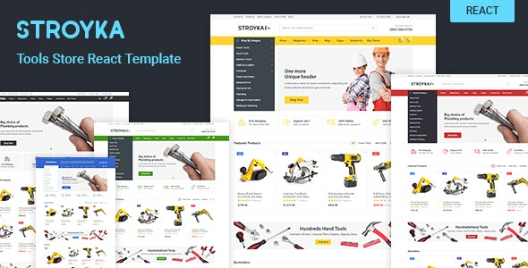 Stroyka - Tools Store React eCommerce Template - Shopping Retail