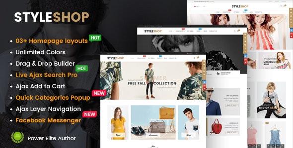 StyleShop - Responsive Multipurpose Sections Drag & Drop