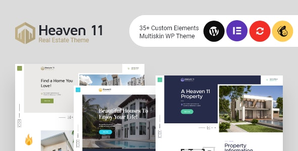 Heaven11 | Property & Apartment Real Estate WordPress Theme - Real Estate WordPress