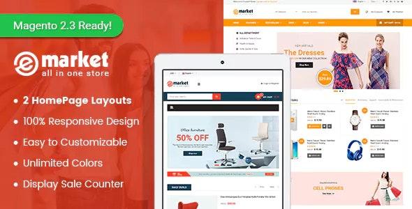 eMarket - SuperShop Responsive Magento 2 Theme - Magento eCommerce