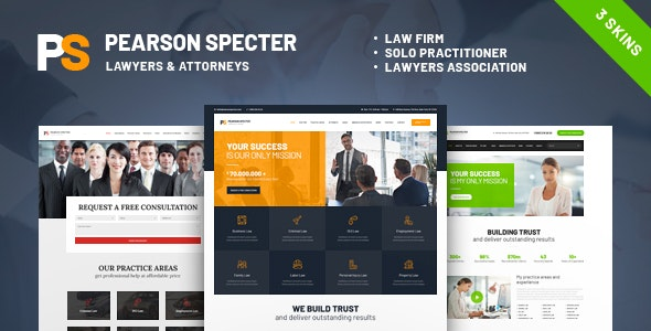 Pearson Specter | WordPress Theme for Lawyer & Attorney - Business Corporate