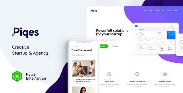 Piqes | Creative Startup & Agency WordPress Theme - Business Corporate