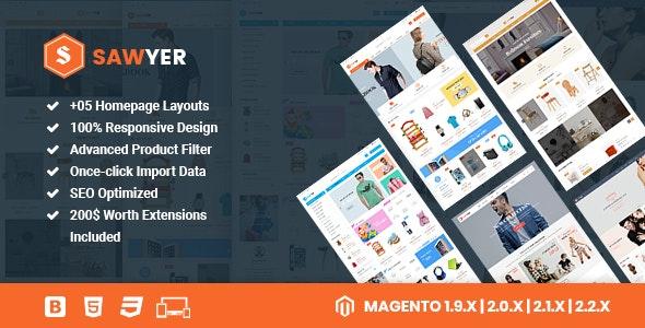 Sawyer - Multipurpose Responsive Magento 2 and 1.9 Theme - Shopping Magento