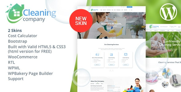 Cleaning Services WordPress Theme + RTL - Business Corporate