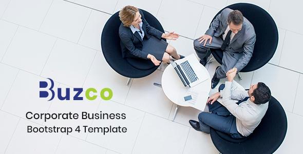 Buzco - Corporate Business Bootstrap 4 Template - Business Corporate