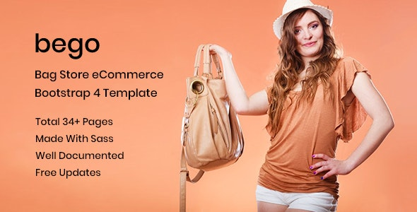 Bego – Bag Store HTML5 Template - Shopping Retail
