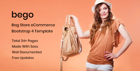 Bego – eCommerce Bootstrap 4 Template - Shopping Retail