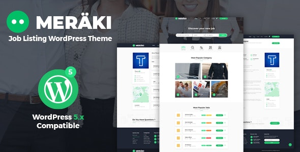 Meraki - Job Board WordPress Theme - Directory & Listings Corporate