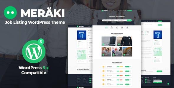 Meraki - Job Board WordPress Theme