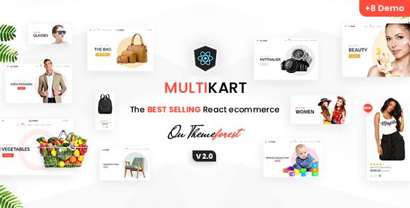 Multikart - Responsive React eCommerce Template - Retail Site Templates