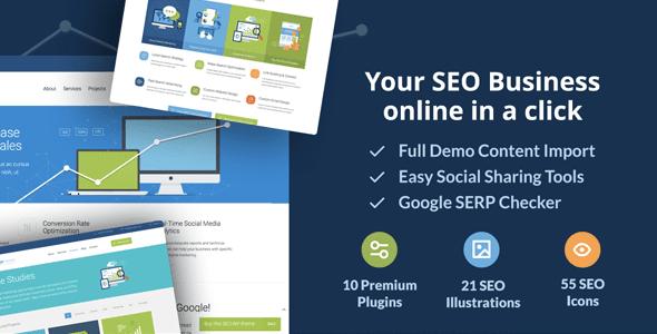 SEOWP: Digital Marketing, SEO, Social Media & Design Agency WordPress Theme - Marketing Corporate