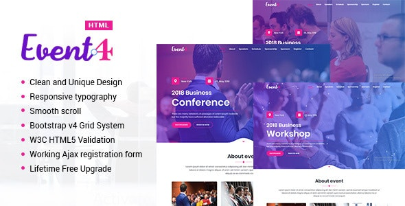 Event4 - Responsive Marketing Landing Pages - Landing Pages Marketing