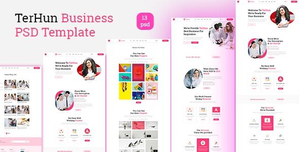 TerHun Business PSD Template - Business Corporate