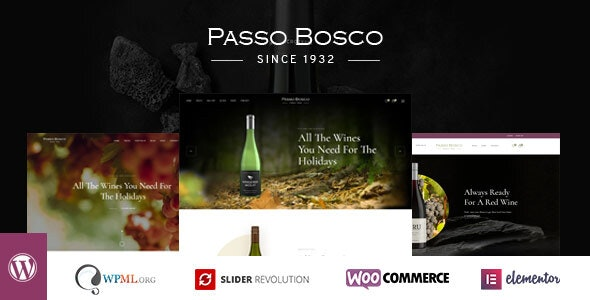 Passo Bosco - Wine & Vineyard WordPress Theme - WooCommerce eCommerce
