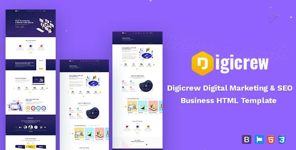 Digicrew - Responsive HTML Template - Marketing Corporate