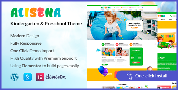 Alisena - Kindergarten & Preschool WordPress Theme - Children Retail