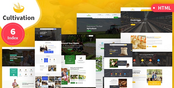 Cultivation Multipurpose Responsive HTML Template - Site Templates