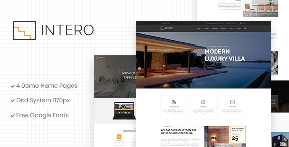 Intero | Architecture and Interior Business PSD Template - Business Corporate