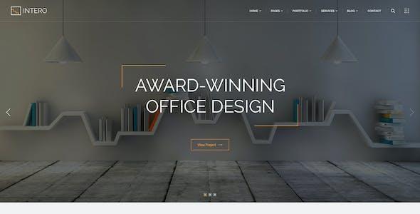 Intero   Architecture and Interior Business PSD Template