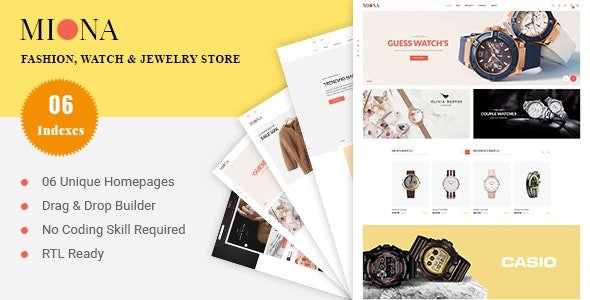 MIONA - Fashion, Watch & Jewelry Shopify Theme - Shopping Shopify