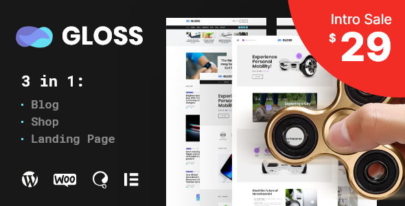 Gloss | Viral News Magazine WordPress Blog Theme - News / Editorial Blog / Magazine