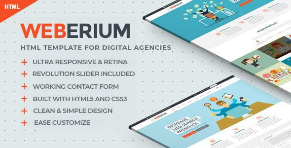 Weberium | Responsive HTML5 Template Tailored for Digital Agencies - Business Corporate