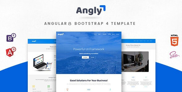 Angly - Angular 8 Bootstrap 4 Multipurpose Template by