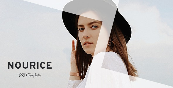 Nourice - Blog & Shop PSD Template - Personal Photoshop