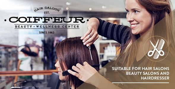 Coiffeur - Hair Salon WordPress Theme - Health & Beauty Retail