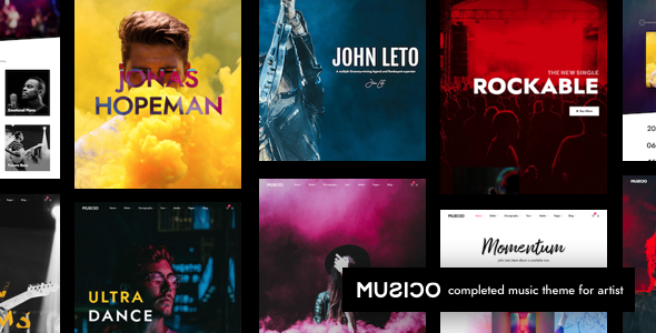 Musico | Music Band WordPress - Music and Bands Entertainment