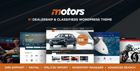 Motors - Car Dealer and Rental, Classified WordPress theme by