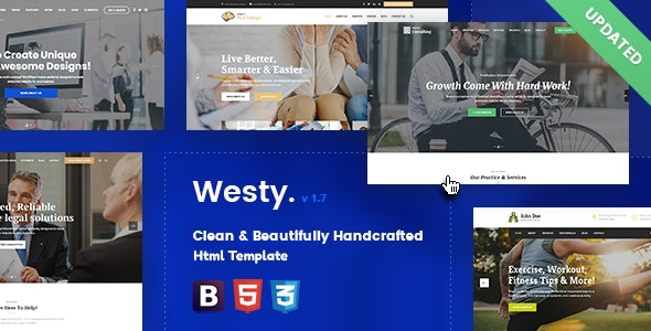 Westy - Responsive Multi-Purpose Html Template - Creative Site Templates