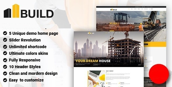Build - Construction Building Company Joomla Template - Business Corporate